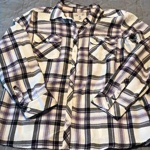 Long sleeve button down shirt women's XL